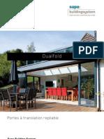 Dualfold - portes en aluminium à translation repliable - Sapa Building System