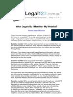 What Legals Do I Need for My Website? - Legal123.com.au
