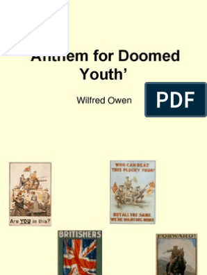 Anthem For Doomed Youth Wilfred Owen Poetry Fiction