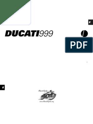Ducati 999 Owners Maintenance Manual | Clutch | Manual Transmission