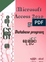 Programming Access 2010 Database (KoMyanmar)@Soesoediary