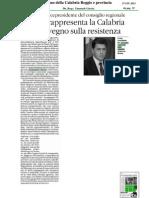 Convegno meridionali e Resistenza 16/06/2013. Rassegna stampa regione Calabria. QUOTIDIANO DELLA CALABRIA REGGIO E PROVINCIA