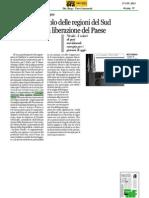 Convegno meridionali e resistenza 16/06/2013. Rassegna stampa regione Calabria. CALABRIA ORA