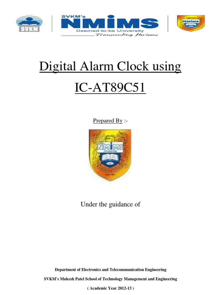 Digital Alarm Clock Using 8051 | Microcontroller | Electricity