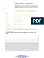 The Client Brief Form