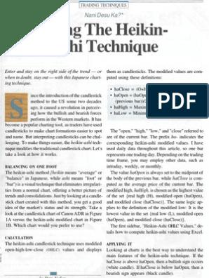 Using the Heikin Ashi Technique D Valcu | Financial Markets