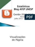 Estatísticas blog Gestão 2012-2013