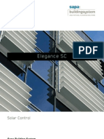 Elegance SC - solar control - Sapa Building System
