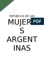 repblica de las mujeres argentinas libreto 2013