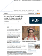 Roman Vestal Virgin Hairstyle Re-created NBC News