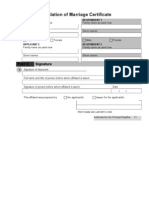 Aff - Translation of Marriage Certificate