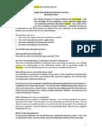 Generic Questionnaire SC 2009