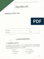 Inventario Agorafobia (IA) Echeburúa