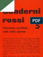 Quaderni Rossi 5. Intervento Socialista