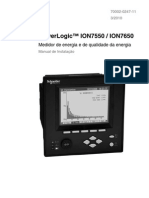Medidor Schneider Ion7550 Ion7650 Manual
