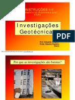 Investigações Geotécnicas