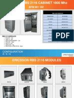 Ericsson RBS2116 1800Mhz Cabinet