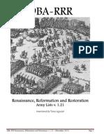 DBA-RRR Army Lists v.1.21