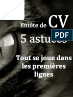 Entete de Cv 5 Tips en Or