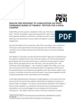 English PEN Response to Consultation on Press Standards Board of Finance 23 May 2013