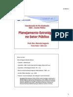 MBA Gestão Pública - Planejamento Estratégico no Setor Público