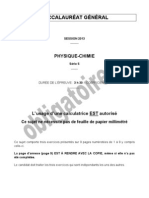Bac S 2013 Physique Chimie Oblig