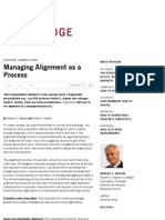 Managing Alignment as a Process