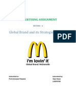 Global Brand - Mcdonalds' Strategies