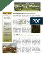 Planting Malawi - April newsletter