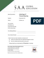 ACCA Dec 2011 F7 Mock Paper