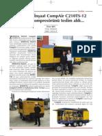 ERKE Group, Zemintaş İnşaat CompAir C210TS-12 Seyyar Kompresörünü teslim aldı - Şantiye Dergisi / Haziran 2013