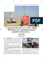 ERKE Group, 77 İnşaat FUWA SFC-75 ve PTC 50HD1 Vibrodriver ile yurtdışında başarılı projelere imza atıyor. - Şantiye Dergisi / Temmuz 2013