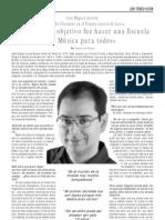 Entrevista a José Miguel Azorín, profesor de Clarinete en el Conservatorio de Lorca