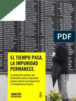 El Tiempo Pasa La Impunidad Permanece Informe_INFORME AMNISTIA