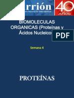 Semana 4 y 5. Proteinas y Acidos Nucleicos