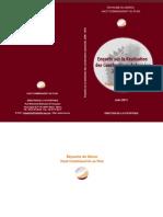 Enquête sur la réalisation des constructions autorisées 2009-2010 rapport de Synthèse - juin 2011