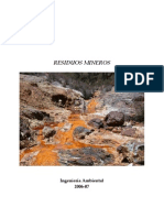 Tipos de Residuos Mineros