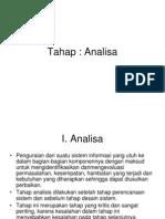 Analisa Sistem dan Tahapan-tahapannya