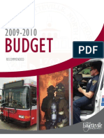 Annual Recommended Budget 2009-10