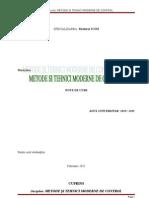 Metode Si Tehnici Moderne de Control