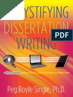 Demystifying the Dissertation