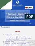 Reglamento de Transparencia SBS