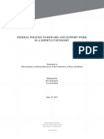 Federal Policies to Reward and Support Work in a Difficult Economy
