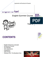 English Summer Course Year 9