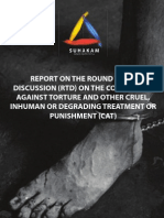 REPORT ON THE ROUND TABLE DISCUSSION (RTD) ON THE CONVENTION AGAINST TORTURE AND OTHER CRUEL, INHUMAN OR DEGRADING TREATMENT OR PUNISHMENT (CAT)