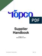 Topco Supplier Handbook - 4.1.2011