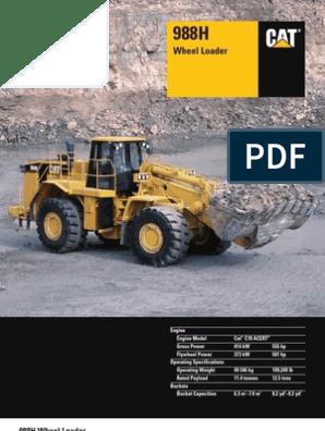 Caterpillar 988H Manual | Transmission (Mechanics) | Fuel