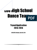 Lee High School Dance Team Tryouts