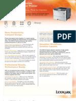 Lexmark MS610 Detail Sheet