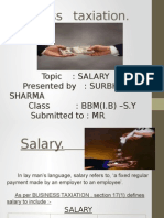Business Taxation- Salary